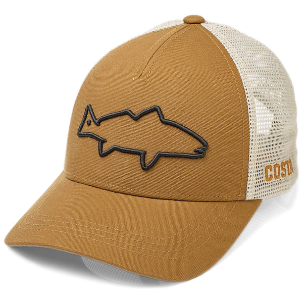Costa del Mar Stealth Trucker Redfish Working Brown Image 1