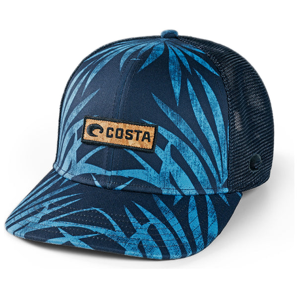 Costa del Mar XL Fit Trucker Coco Palms Blue Image 1