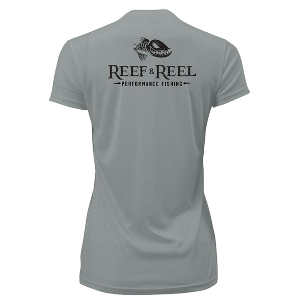 Reef & Reel Women's Floating Fish Back Performance SS Shirt