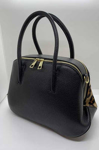 Borsa real leather maculata