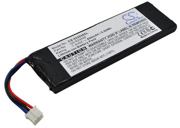 Battery for Sonstige X Drive MP3 player GS 533048 7.4V Li-ion 800mAh