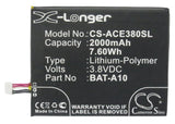 Battery for Acer E380 BAT-A10, BAT-A10(1ICP4/58/71), KT.0010S.010 3.8V Li-Polyme