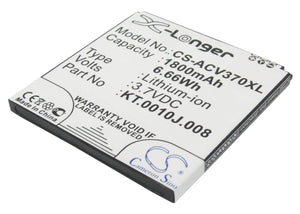 Battery for Acer Liquid E2 JD-201212-JLQU-C11M-003, KT.0010J.008 3.7V Li-ion 180