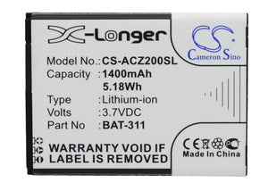 Battery for Acer Liquid Z220 Duo BAT-311, BAT-311(1ICP5/43/55), KT.0010S.011 3.7