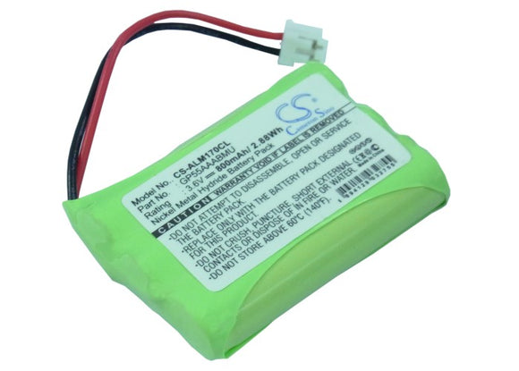 Battery for Alcatel Eole 170 MX 3.6V Ni-MH 800mAh / 2.88Wh