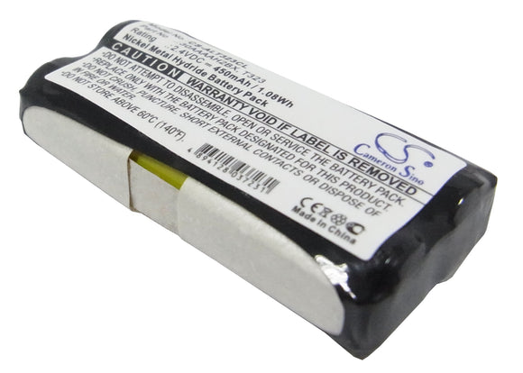 Battery for AEG Ventura FS 2.4V Ni-MH 450mAh