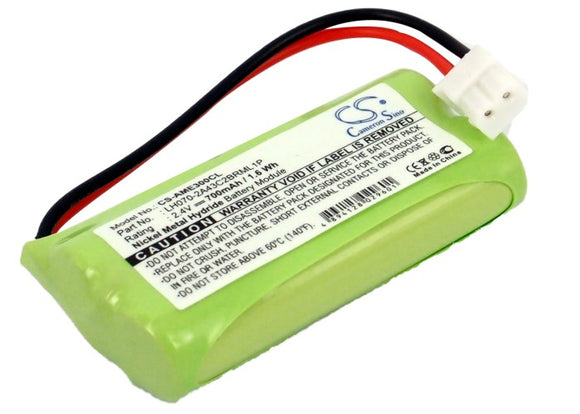 Battery for AT&T TL96371 BT166342, BT183342, BT266342, BT283342 2.4V Ni-MH 700mA