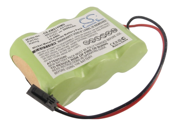 Battery for Alaris Medicalsystems 2865 2860729, AS10805, MED3201 3.6V Ni-MH 3000