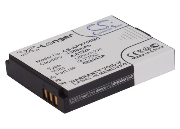 Battery for Actionpro ISAW A3 083443A 3.7V Li-ion 1300mAh / 4.81Wh