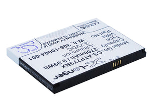 Battery for AT&T Unite Express 308-10004-01, W-8 3.7V Li-ion 2400mAh / 8.88Wh