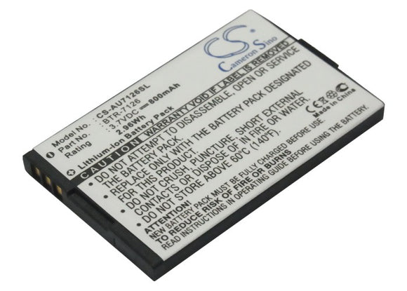 Battery for Audiovox CDM-7176 BTR-7126 3.7V Li-ion 800mAh / 2.96Wh