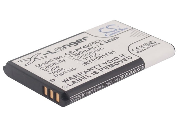 Battery for AGFEO DECT 60 3.7V Li-ion 1200mAh / 4.44Wh