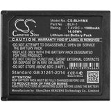 Battery for Olympus E-M1 Mark II BLH-1 7.4V Li-ion 1900mAh / 14.06Wh