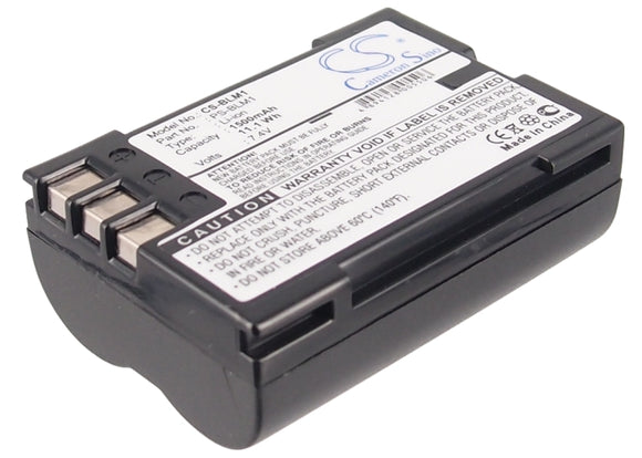 Battery for Olympus Camedia C-5060 Wide Zoom BLM-1, PS-BLM1 7.4V Li-ion 1500mAh