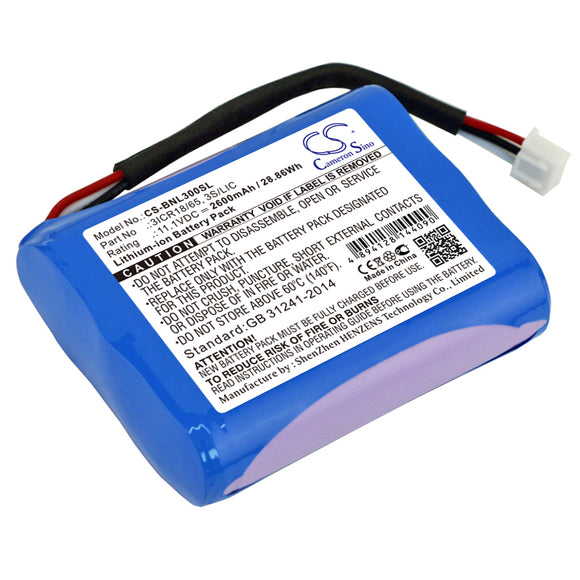 Battery for Bang & Olufsen BeoPlay A3 3ICR18/65, 3S/LIC 11.1V Li-ion 2600mAh / 2