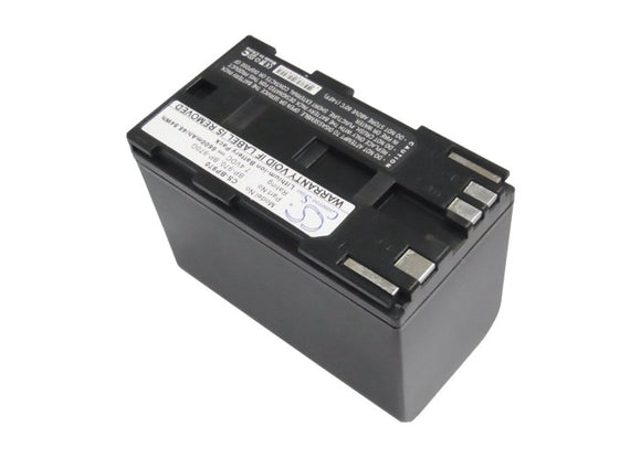 Battery for Canon V75Hi BP-970, BP-970G 7.4V Li-ion 6600mAh