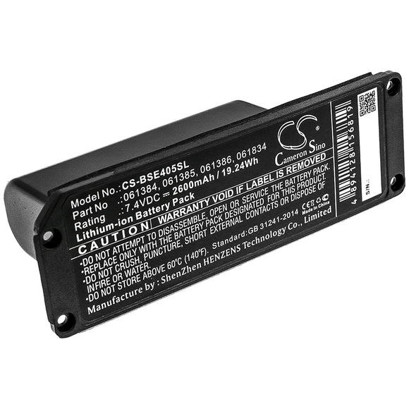 Battery for Bose Soundlink Mini 061384, 061385,061386, 061834 7.4V Li-ion 2600mA
