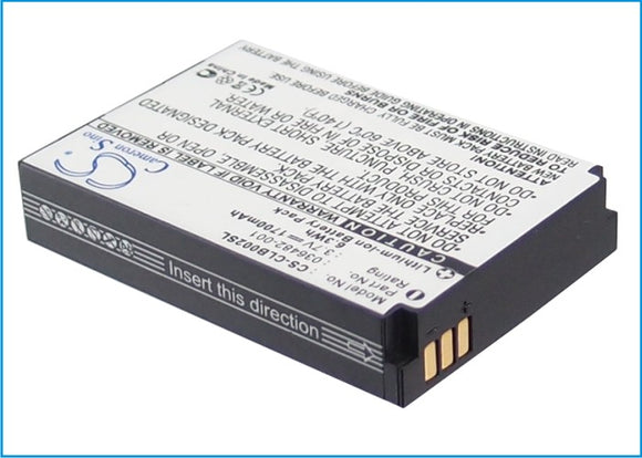 Battery for Columbia Omni-Heat 036482-001 3.7V Li-ion 1700mAh / 6.29Wh