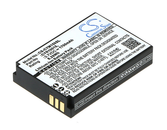 Battery for Cyrus CM15 CYR10015, HE-129382 3.7V Li-ion 1700mAh / 6.29Wh