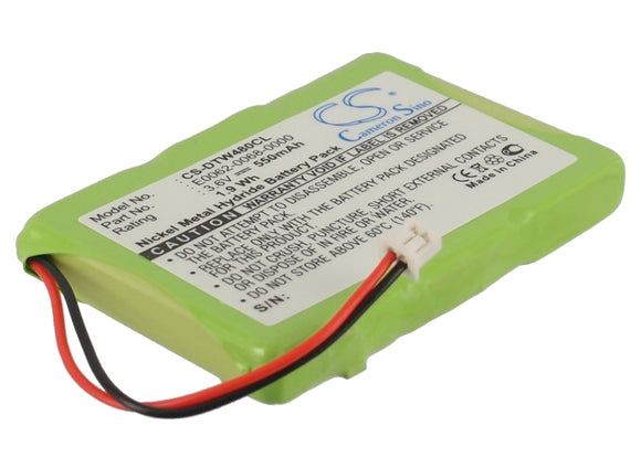 Battery for Aastra CM-16 23-0022-00, E0062-0068-0000, SN03043T-Ni-MH 3.6V Ni-MH
