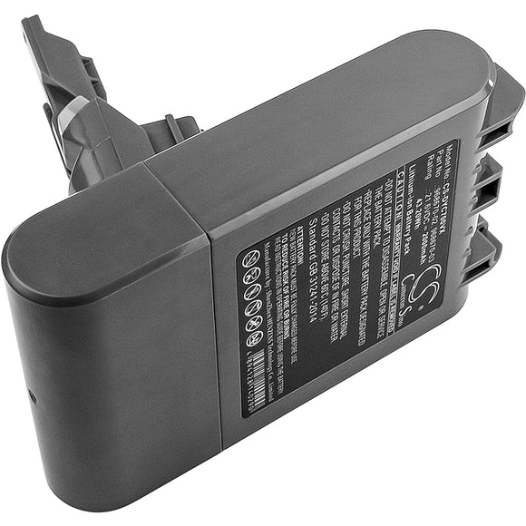 Battery for Dyson V7 Motorhead vacuum 968670-02, 968670-03 21.6V Li-ion 2000mAh