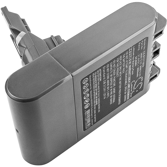 Battery for Dyson V7 Total Clean 968670-02, 968670-03 21.6V Li-ion 3000mAh / 64.