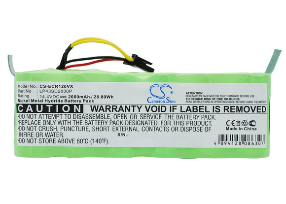 Battery for Sichler NC-5725-919 14.4V Ni-MH 2000mAh / 28.80Wh