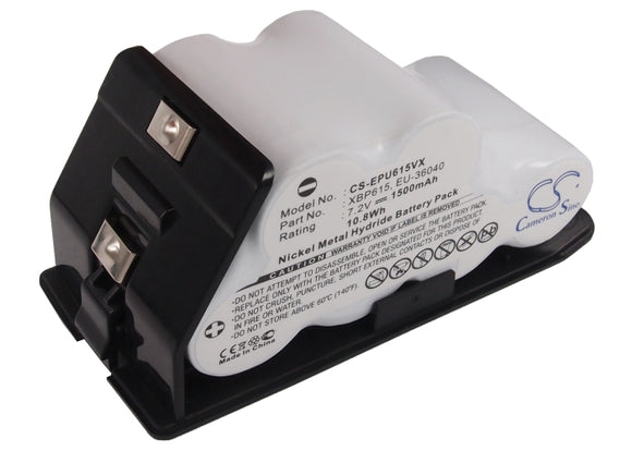 Battery for Shark UV615H EU-36040, XBP615 7.2V Ni-MH 1500mAh / 10.80Wh