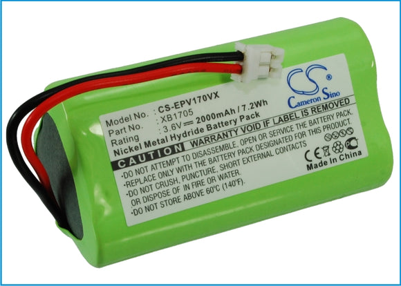 Battery for Shark V1705i XB1705 3.6V Ni-MH 2000mAh / 7.20Wh