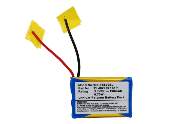 Battery for Fiio E6 PL402030 1S1P 3.7V Li-Polymer 190mAh / 0.70Wh