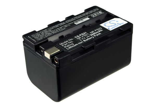 Battery for Sony DCR-PC1E NP-FS20, NP-FS21, NP-FS22 3.7V Li-ion 2880mAh