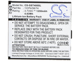 Battery for GSmart T4 Lite 1ICP4/56/74 3.7V Li-ion 1250mAh / 4.63Wh