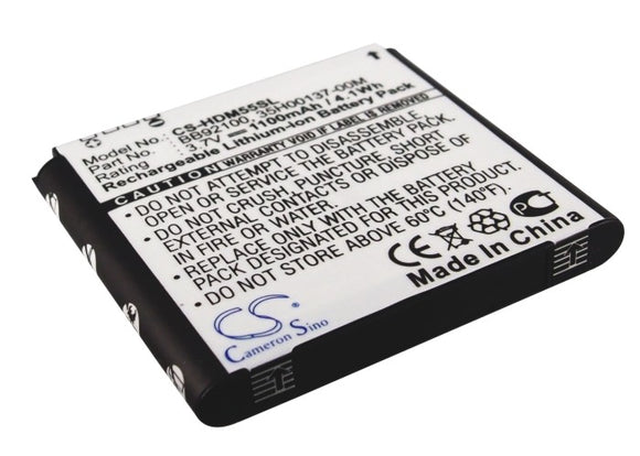 Battery for HTC Aria A6380 Liberty 35H00137-00M, 35H00137-01M, BA S430, BB92100
