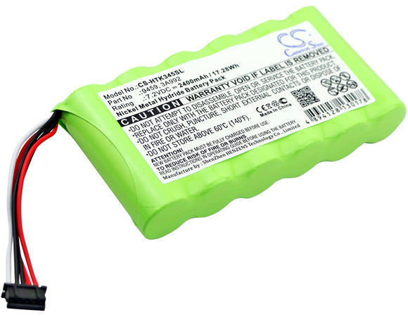 Battery for Hioki PW3360 Clamp On Power Logger 3A992, 9459 7.2V Ni-MH 2400mAh /