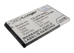 Battery for AT&T Pure 35H00125-07M, 35H00125-11M, BA S360, TOPA160 3.7V Li-ion 1