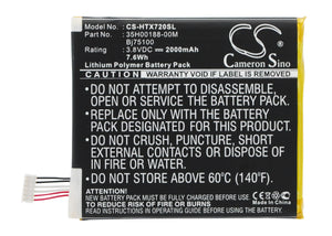 Battery for AT&T s728e 3.8V Li-Polymer 2000mAh / 7.6Wh