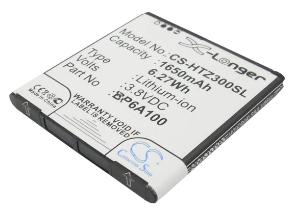 Battery for HTC Desire 300 35H00190-09M, BP6A100 3.8V Li-ion 1650mAh / 6.27Wh