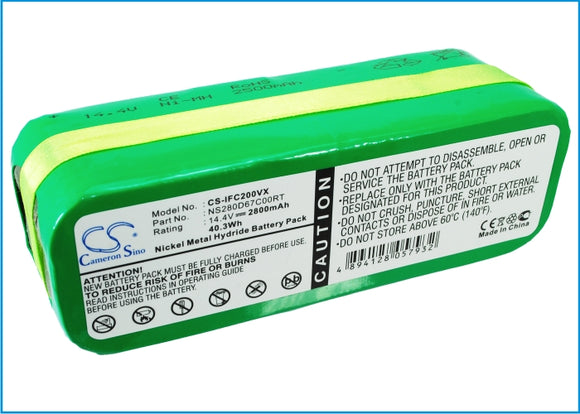 Battery for Aircraftvacuums Pilot Lux 14.4V Ni-MH 2800mAh / 40.32Wh