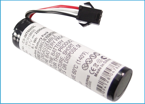 Battery for Altec Lansing IM600 MCR18650 3.7V Li-ion 2200mAh / 8.14Wh
