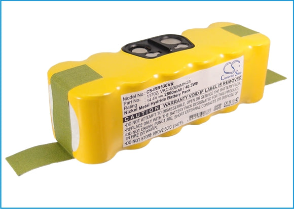 Battery for Vileda 137173 Cleaning Robot 14.4V Ni-MH 2800mAh / 40.32Wh