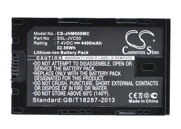 Battery for JVC LC-2J SSL-JVC50, SSL-JVC70 7.4V Li-ion 4400mAh / 32.56Wh