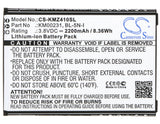 Battery for Kruger&Matz Live 2 BL-5N-I, KM00231 3.8V Li-ion 2200mAh / 8.36Wh