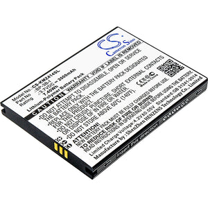 Battery for Kruger&Matz KM0408 BP-3B-I 3.7V Li-Polymer 2000mAh / 7.40Wh