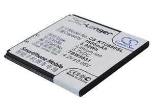 Battery for K-Touch E616 TBW5931 3.7V Li-ion 1600mAh / 5.92Wh