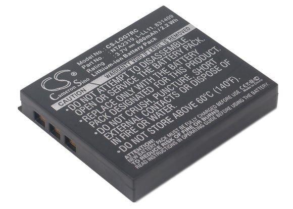 Battery for Logitech M-RBQ124 190310-1000, 190310-1001, 831409, 831410, L-LL11,