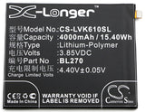 Battery for Motorola Moto G6 Play BL270 3.85V Li-Polymer 4000mAh / 15.40Wh