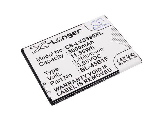 Battery for LG V10 LTE BL-45B1F, EAC63118201, EAC63158401 AAC 3.85V Li-ion 3000m