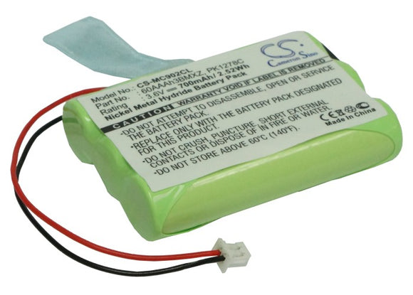 Battery for Aastra M910 3.6V Ni-MH 700mAh / 2.52Wh