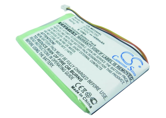 Battery for Medion GoPal PNA350 3.7V Li-Polymer 1650mAh