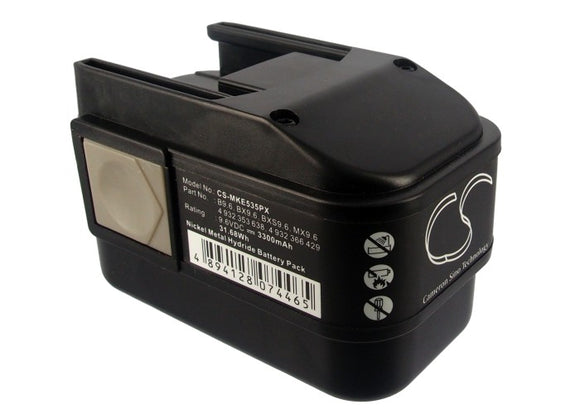 Battery for ATLAS COPCO PES 9.6T 4 932 353 638, 4 932 366 429, B9.6, BX9.6, BXS9
